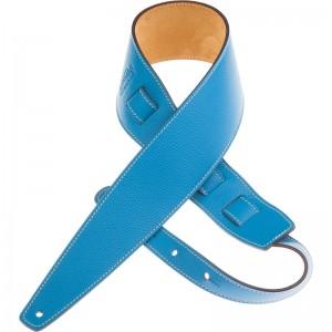 Tracolla per chitarra e basso in pelle Holes HS Colors Azzurro 8 cm