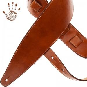 Tracolla per chitarra e basso in pelle Holes HS Stone Washed Marrone 10 cm