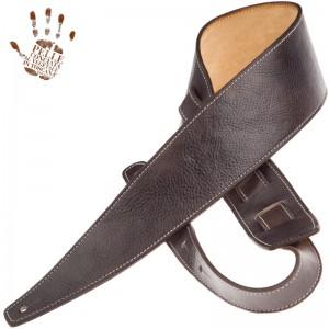 Tracolla per chitarra e basso in pelle Holes HS Stone Washed Grigio Scuro 8 cm