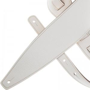 Tracolla per chitarra e basso in pelle Holes HS Colors Bianco 10 cm