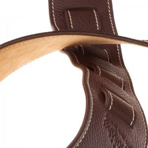 Tracolla per chitarra e basso in pelle Holes HS Colors Marrone 8 cm