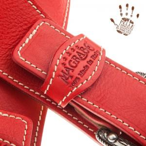 Tracolla per chitarra e basso in pelle Twin Buckle TS Core Rosso 7 cm