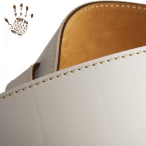 Tracolla per chitarra e basso in pelle Holes HS Core Bianco 8 cm