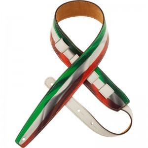 Tracolla per chitarra e basso in pelle Holes HS Print Italia Waving Flag 6 cm