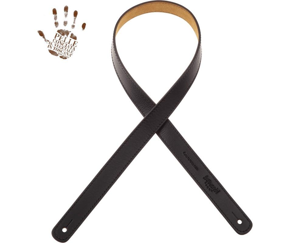Mini Strap MS Nero 3 cm cuciture Nere